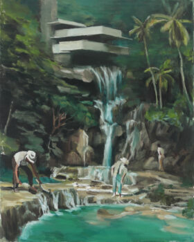 Study with Falling Water